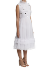 Trapeze Frill Dress - White