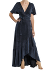 Zenith Wrap Maxi Dress - Midnight Blue
