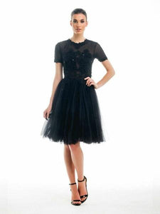 Ethereal Lace Dress - Black