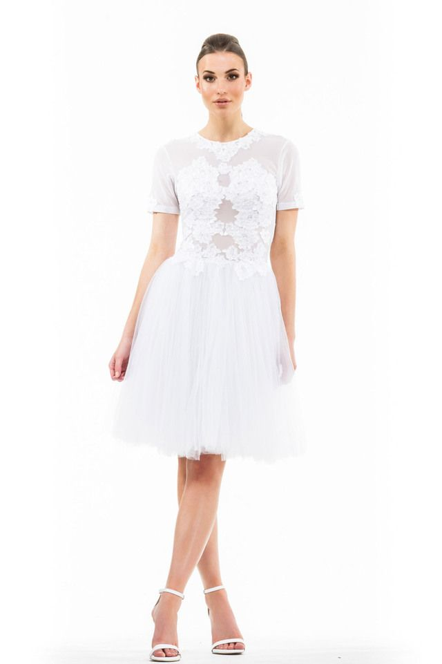 Ethereal Lace Dress - White
