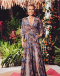Peacock Silk Maxi - Made to Order