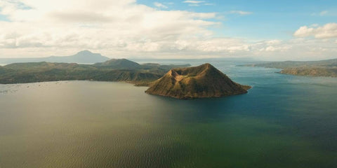 Taal volcano view from afar