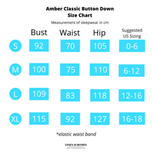 Amber Classic Button Down Sleepwear Set (Tshirt + Long Pants)