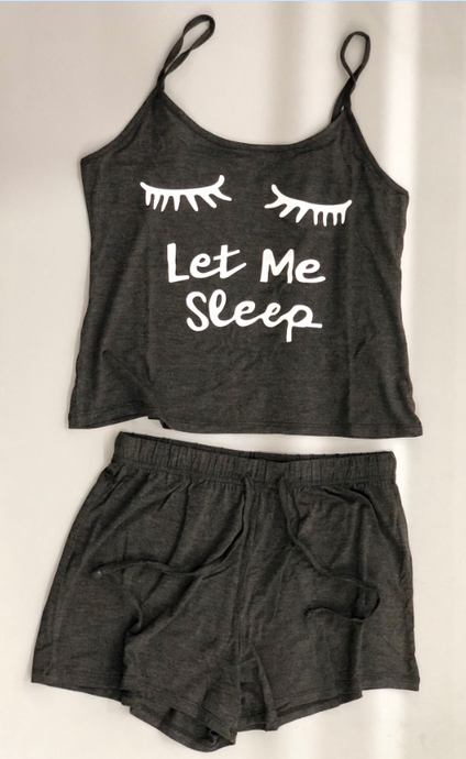 Let Me Sleep Cami Shorts Set