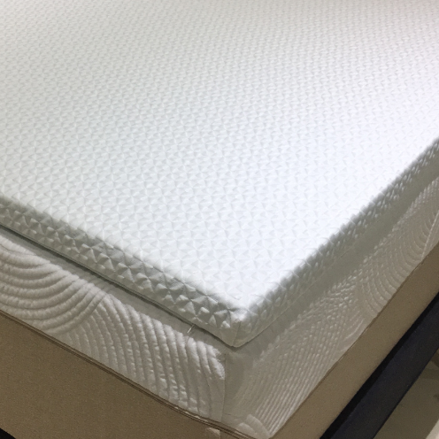 Memory Foam Mattress Topper with Cooling Removable Cover