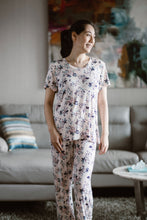 Bamboo Sleepwear Pants and Tshirt Set- Pink Floral