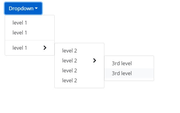 Bootstrap 4 Multi level Dropdown menu on Mouse hover