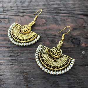 'Ethnic Vibes ' Oriental Mandala Design Earrings