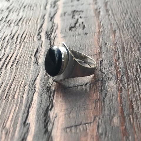 Black Sterling Silver Signet Ring Design