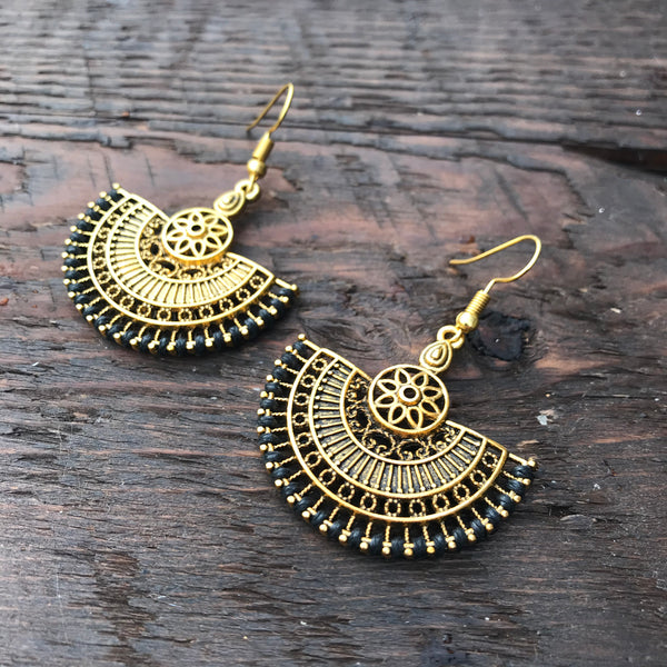 'Ethnic Vibes' Oriental Mandala Design Earrings