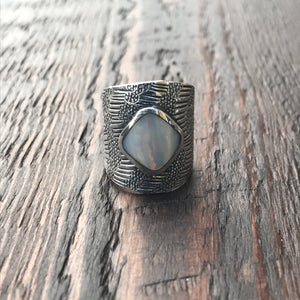 Mayan Sterling Silver & Mother of Pearl Ring