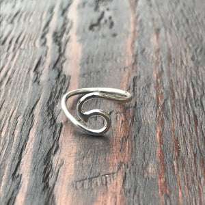 Wave Design Sterling Silver Ring