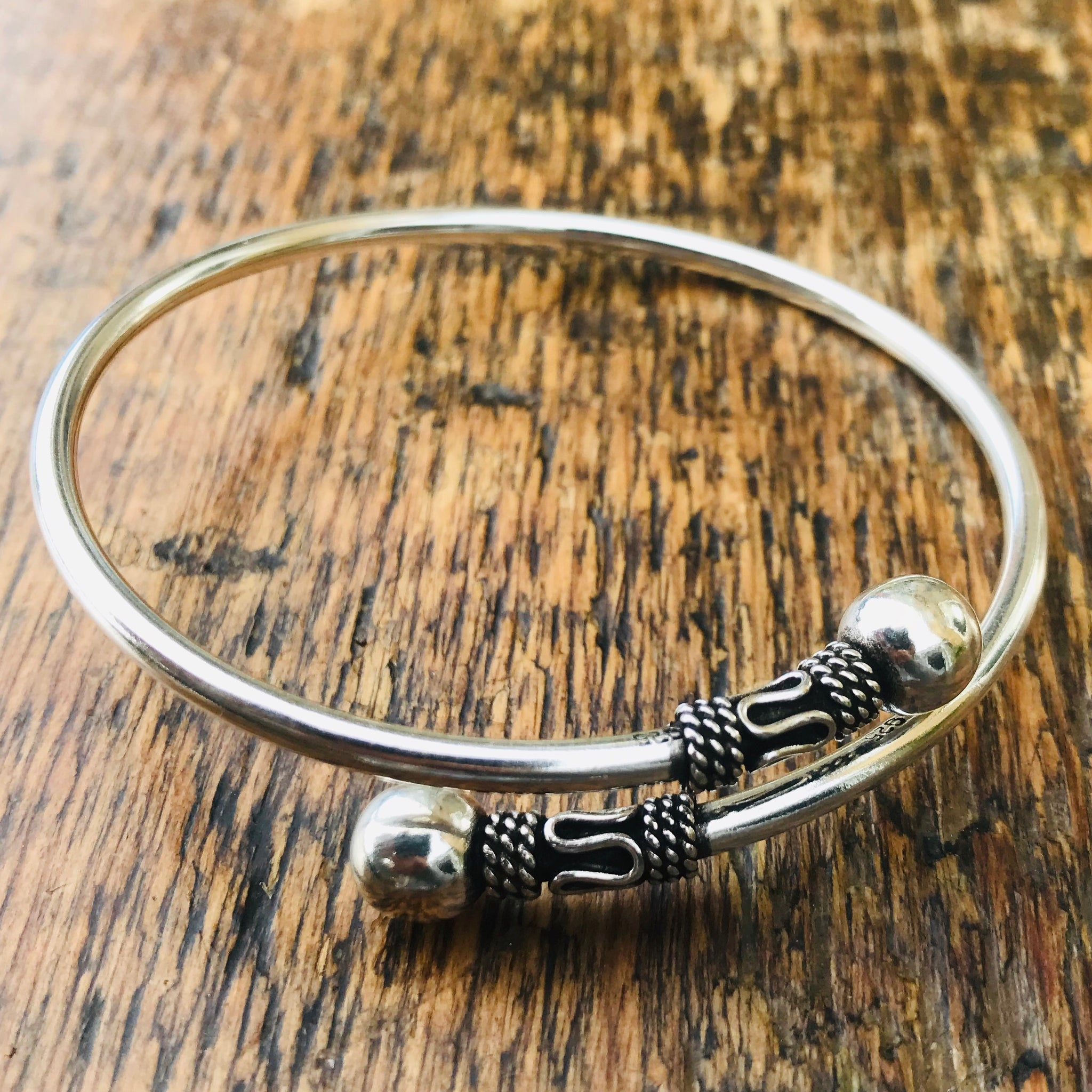 'Borobudur' Ubud Sterling Silver Cuff Bangle