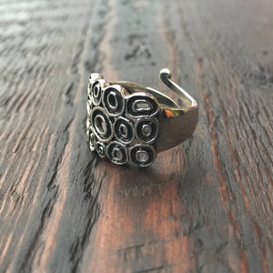 'Luna' Abstract Sterling Silver Ring