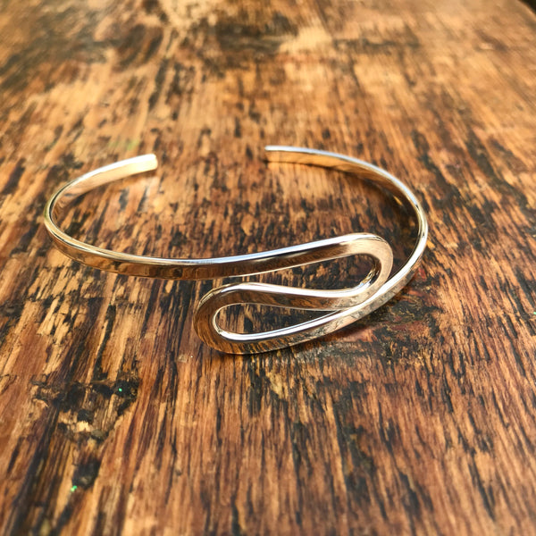 Serpentine Cuff Sterling Silver Bangle - Just Two Left