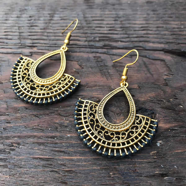 'Brass-Works'  Ethnic Mandala Design Earrings