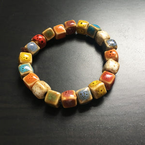 Ceramic Cube Shapes Bracelet