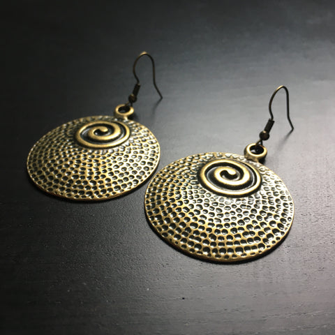 'Brass-Works' Statement Dome Earrings