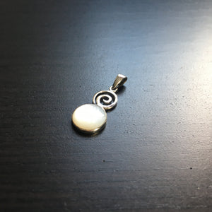 Mother of Pearl Spiral Design Pendant