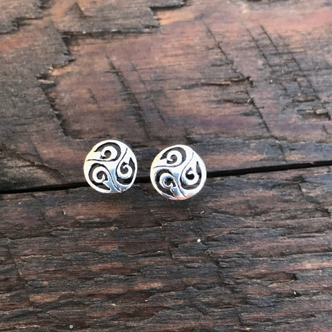 Sterling Silver 'Balance' Stud Earrings