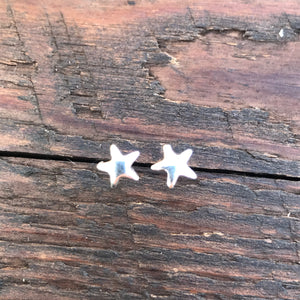 Sterling Silver 'Star' Design Stud Earrings