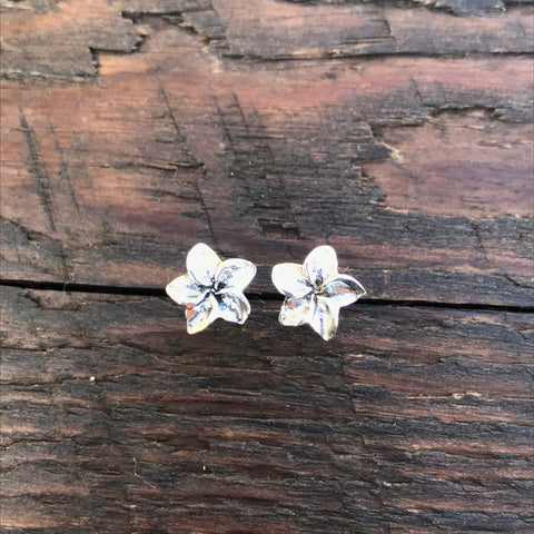 Sterling Silver 'Lilly' Design Stud Earrings