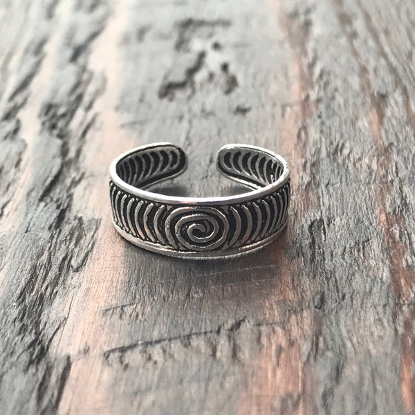 'Cosmic' Sterling Silver Toe Ring