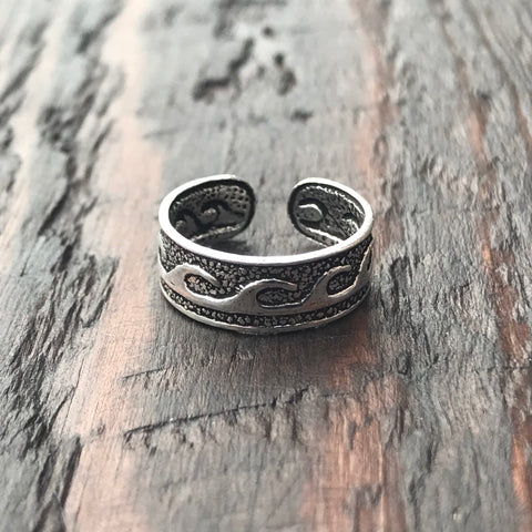 'Waves' Sterling Silver Toe Ring