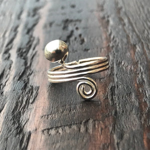 'Spiral Ball' Sterling Silver Toe Ring