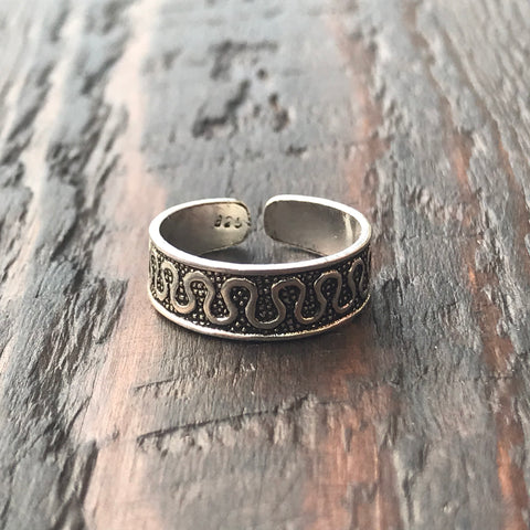 'Athena' Sterling Silver Toe Ring