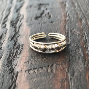 'Asiana' Sterling Silver Toe Ring