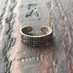 'Butan' Sterling Silver Toe Ring
