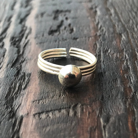 'Boule' Sterling Silver Toe Ring