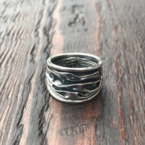 'Rocks' Wide Band Ring