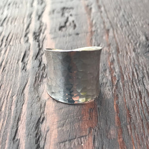 'Sol' Wide Band Wrap Design Ring
