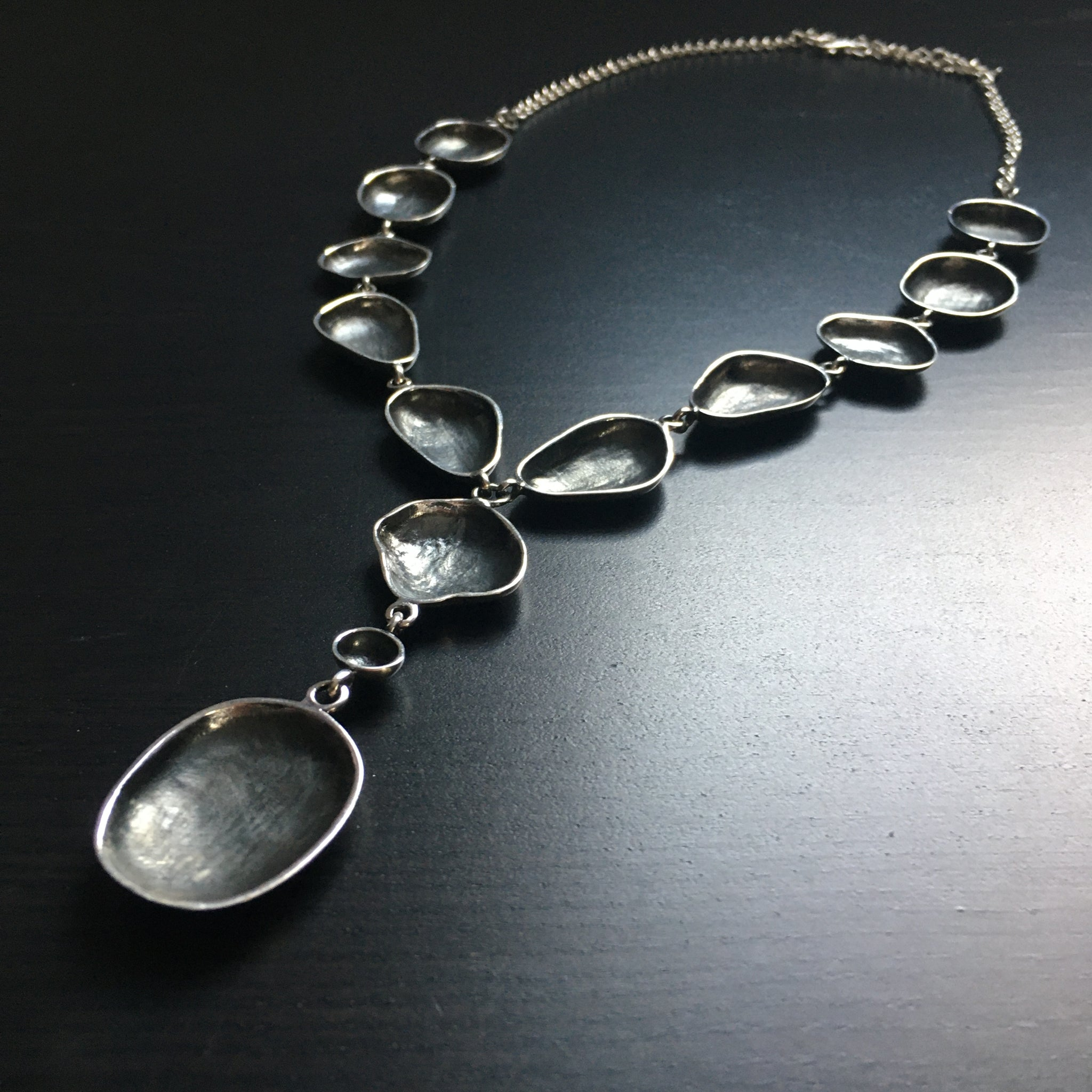 'Luna' Stunning Sterling Silver Drop Necklace