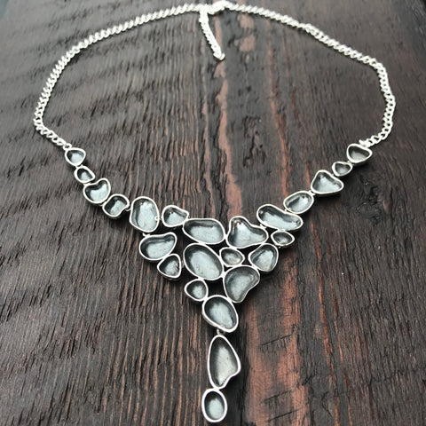 'Luna' Decorative Sterling Silver Statement Necklace