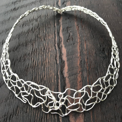 'Vivacity' Sterling Silver Wire Choker