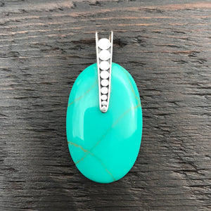 'White Isle' Statement Green Turquoise Pendant