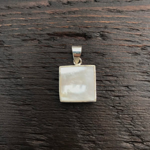 Mother of Pearl Square Pendant
