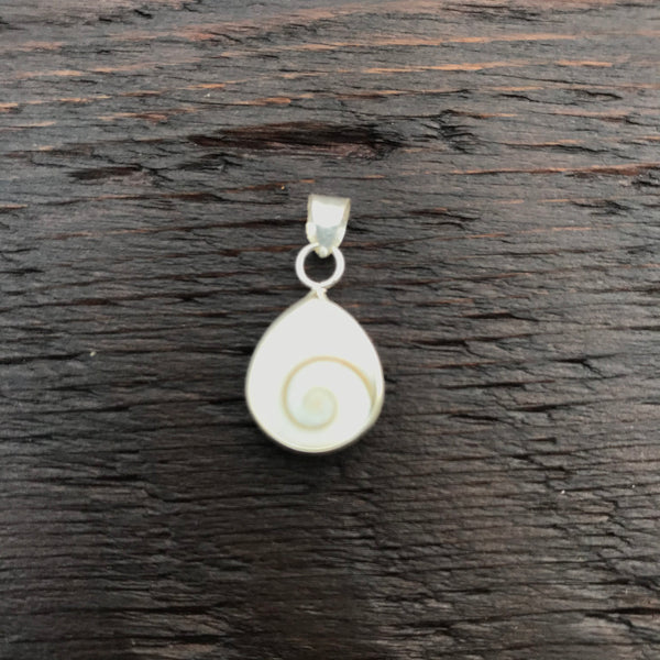 Pear Shaped Shiva Shell Pendant