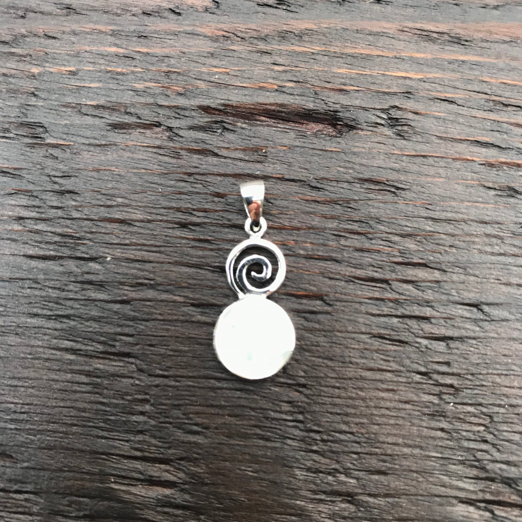 Mother of Pearl & Spiral Design Pendant