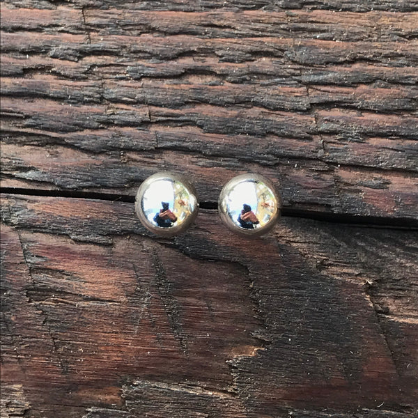 'Bare' Medium Sterling Silver Studs