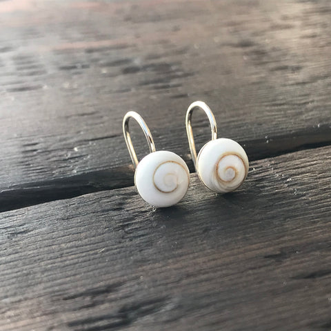 Shiva Shell Mini Drop Sterling Silver Earrings