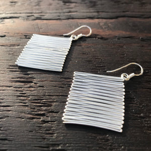 'Gracia' Sterling Silver Drop Earrings