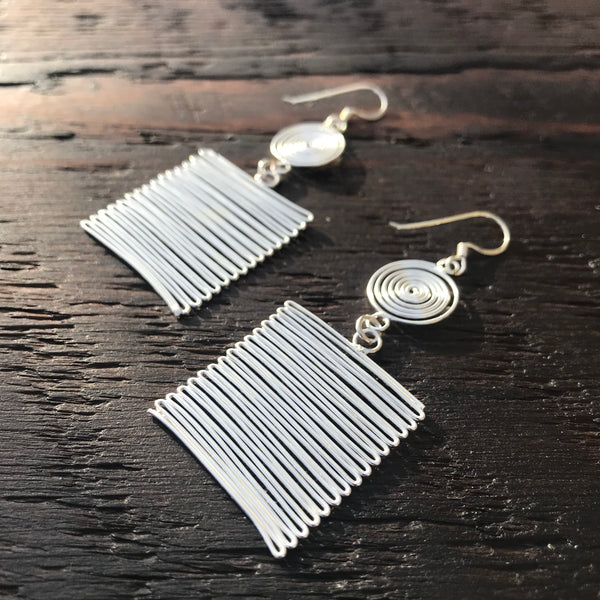 'Fiesta' Sterling Silver Drop Earrings