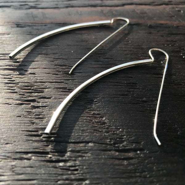 'Wisp' Sterling Silver Drop Earrings