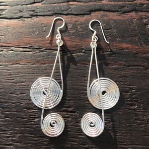 'Soule' Sterling Silver Drop Earrings