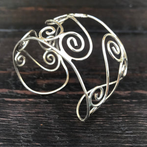 Grecian Cuff Bangle - Sterling Silver Cuff Bangle