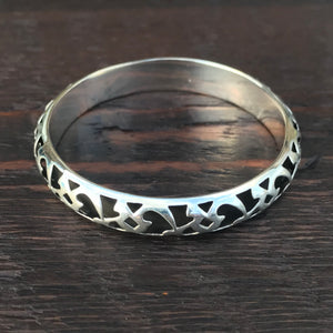 Marrakesh Narrow Bangle - Sterling Silver Bangle